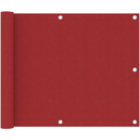 "main image of ""vidaXL Balcony Screen Red 75x600 cm Oxford Fabric - Red"""