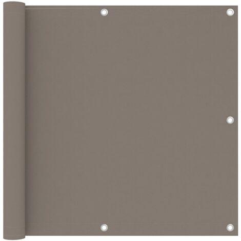 "main image of ""vidaXL Balcony Screen Taupe 90x500 cm Oxford Fabric - Taupe"""