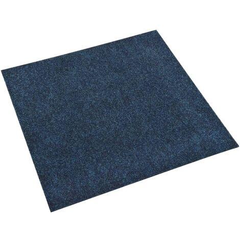 vidaXL Baldosas de moqueta de suelo 20 unidades 5 m² azul marino - Azul