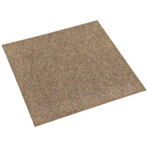 vidaXL Baldosas de moqueta de suelo 20 unidades 5 m² beige - Beige
