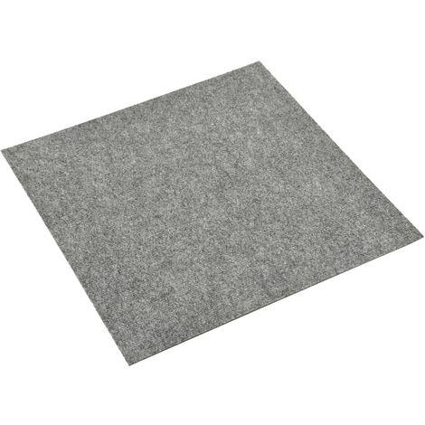 vidaXL Baldosas de moqueta de suelo 20 unidades 5 m² gris claro - Gris