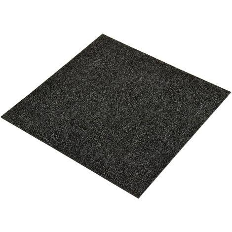 vidaXL Baldosas de moqueta de suelo 20 unidades 5 m² negro - Negro