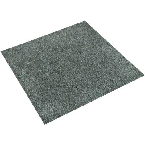 vidaXL Baldosas de moqueta de suelo 20 unidades 5 m² verde - Verde