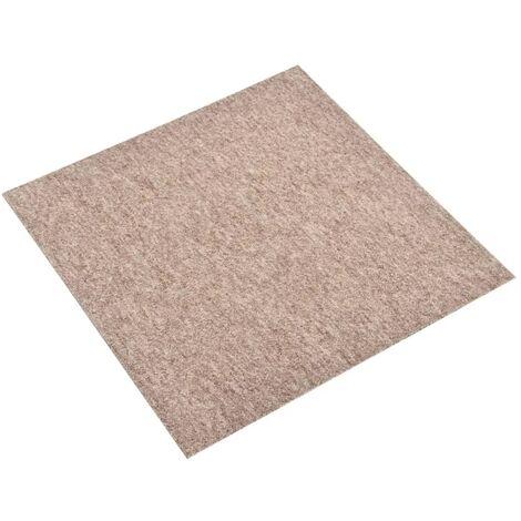vidaXL Baldosas de suelo de moqueta 20 uds 5 m² 50x50 cm beige - Beige