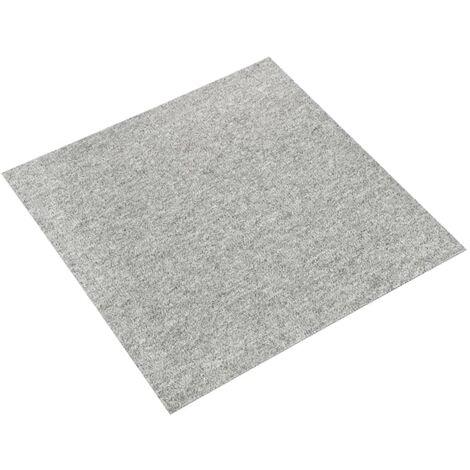 vidaXL Baldosas de suelo de moqueta 20 uds 5 m² 50x50 cm gris claro - Gris