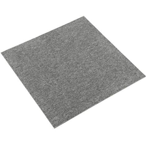 vidaXL Baldosas de suelo de moqueta 20 uds 5 m² 50x50 cm gris - Gris