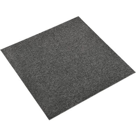 vidaXL Baldosas de suelo de moqueta 20 uds 5m² 50x50cm gris antracita - Antracita