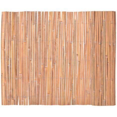 vidaXL Bamboo Fence 100x400 cm - Brown