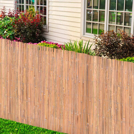 vidaXL Bamboo Fence 170x400 cm - Brown