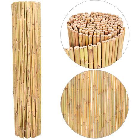 vidaXL Bamboo Fence 250x170 cm - Brown