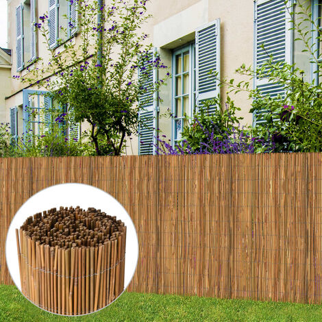 vidaXL Bamboo Fence 500x125 cm - Brown