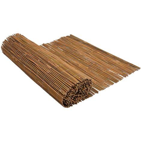 vidaXL Bamboo Fence 500x150 cm - Brown