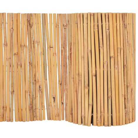 vidaXL Bamboo Fence Outdoor Lawn Screen Border Edging Barrier Fence Panel Garden Decor Decoration Border Fence Path Flowerbed Multi Sizes