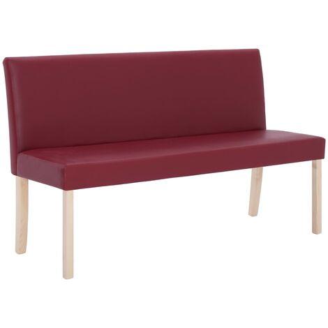 vidaXL Banc 139,5 cm Similicuir Banquette de Salon Banc d'Entrée Banc de Couloir Meuble de Salle de Séjour Maison Intérieur Multicolore