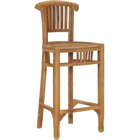 vidaXL Bar Chair Solid Teak Wood - Brown