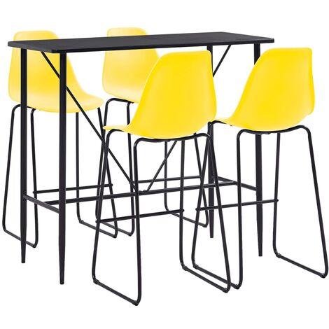 vidaXL Bar Set 5-tlg. Tresen Bartisch Barstuhl Stehtisch Bistrotisch Bartresen Küchenbar Küchentisch Tresentisch Tisch 4 Barhocker Kunststoff mehrere Auswahl