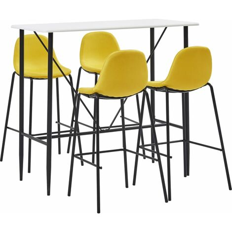 vidaXL Bar Set 5-tlg. Tresen Bartisch Barstuhl Stehtisch Bistrotisch Bartresen Küchenbar Tresentisch Küchentisch Tisch 4 Barhocker Stoff mehrere Auswahl