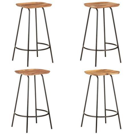 """main image of """"vidaXL Bar Stools 4 pcs Solid Acacia Wood"""""""