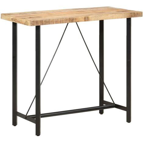vidaXL Bar Table 60x60x107 cm Rough Mango Wood - Brown