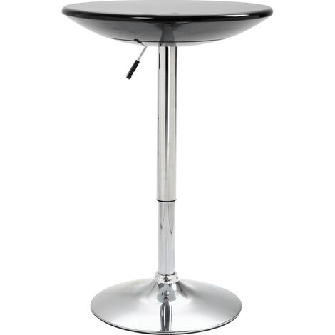 vidaXL Bar Table Height-adjustable Home Dining Room Pub Round Pedestal Table Cocktail Cafe Kitchen Table Stand Furniture ABS Black/White