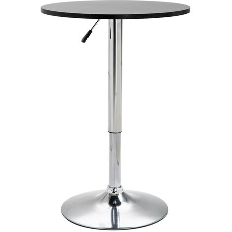 vidaXL Bar Table Height-adjustable Home Dining Room Pub Round Pedestal Table Cocktail Cafe Kitchen Table Stand Furniture MDF Black/White