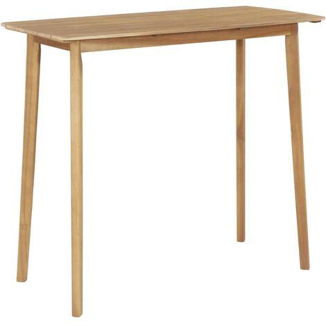 vidaXL Bar Table Kitchen Breakfast Bar Side Table Indoor Outdoor Dining Garden Furniture Coffee Table Solid Acacia Wood Multi Size
