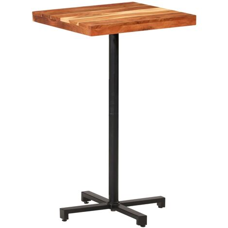 vidaXL Bar Table Square 60x60x110 cm Solid Acacia Wood - Brown