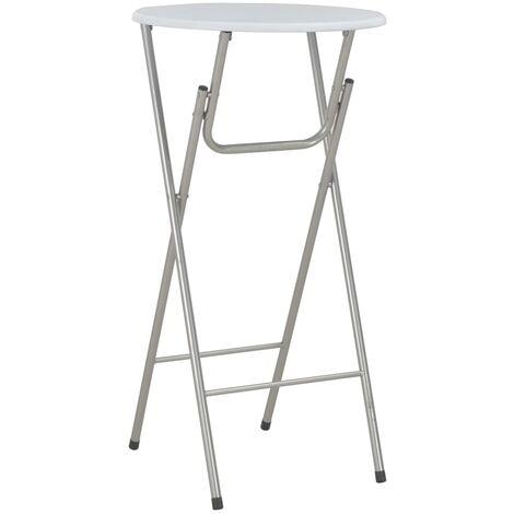 vidaXL Bar Table White 60x112 cm MDF - White
