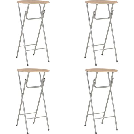 vidaXL Bar Tables 4 pcs Oak 60x112 cm MDF - Brown