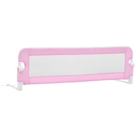 vidaXL Barandilla de Seguridad Cama de Niño Hogar Habitación Dormitorio Movilidad Mobiliario Clínico Colchón Salud Poliéster Multicolor Multitalle