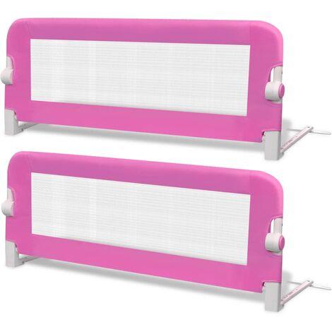 vidaXL Barra de Seguridad Cama de Niño Riel Barandilla Proteger Bebé Infantil Multicolor Diferentes Dimensiones 1 Unidad/2 Unidades