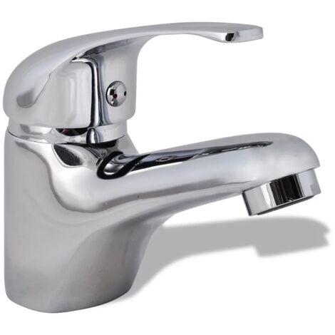 vidaXL Basin Mixer Tap Chrome - Silver