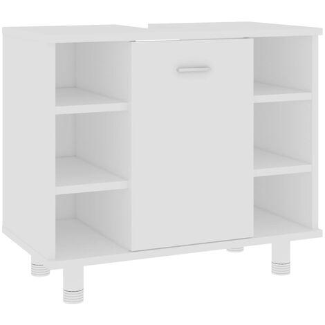 vidaXL Bathroom Cabinet White 60x32x53.5 cm Chipboard - White
