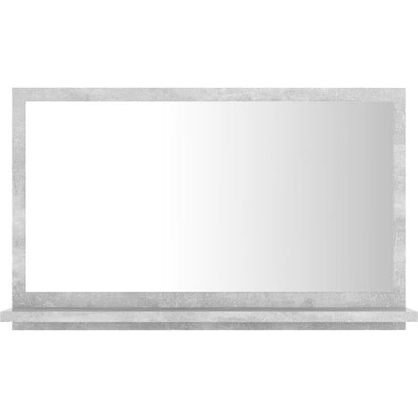 vidaXL Bathroom Mirror Concrete Grey 60x10.5x37 cm Chipboard - Grey