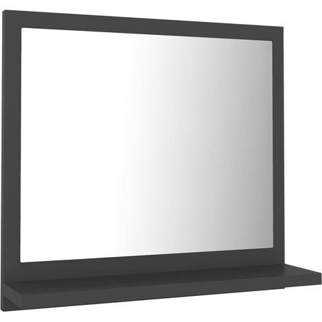 vidaXL Bathroom Mirror Grey 40x10.5x37 cm Chipboard - Grey