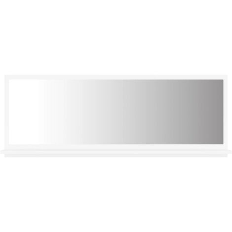 vidaXL Bathroom Mirror White 100x10.5x37 cm Chipboard - White