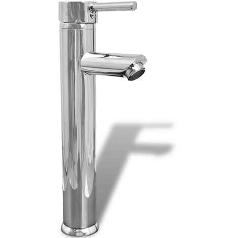 vidaXL Bathroom Mixer Tap Brass - Silver