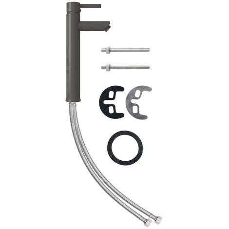 vidaXL Bathroom Mixer Tap Grey 12x30 cm