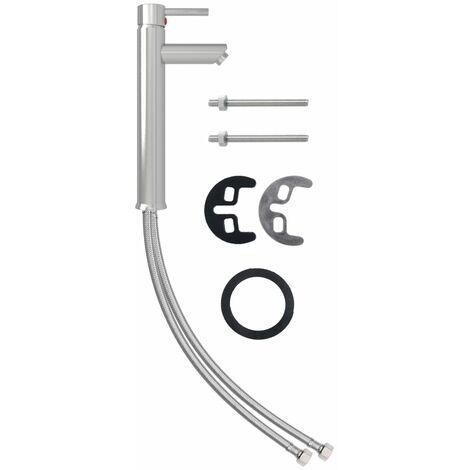 vidaXL Bathroom Mixer Tap Nickel 12x30 cm