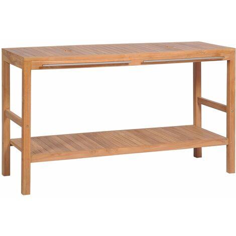 vidaXL Bathroom Vanity Cabinet Solid Teak 132x45x75 cm - Brown