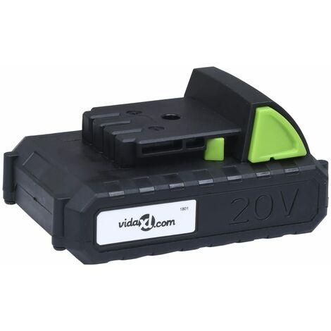 vidaXL Battery Pack 20V 1500 mAh Li-ion - Black