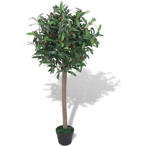 vidaXL Bay Tree Plant with Pot Home Home Interior Bedroom Living Room Office Lifelike Realistic Fake Artificial Flora Green Multi Sizes