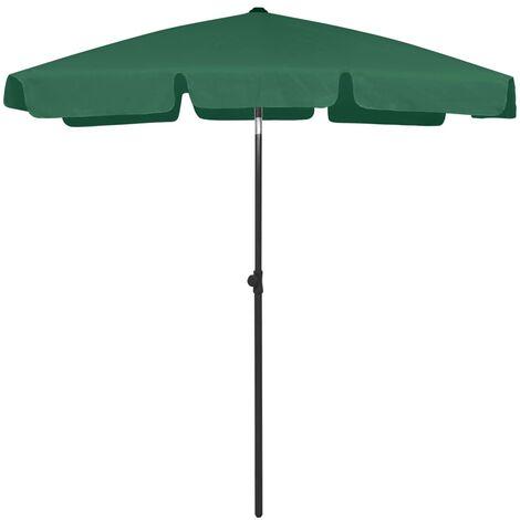 vidaXL Beach Umbrella Green 180x120 cm - Green