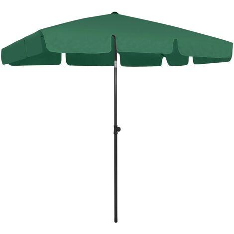 vidaXL Beach Umbrella Green 200x125 cm - Green