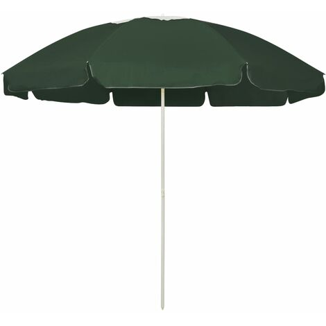 vidaXL Beach Umbrella Green 240 cm - Green