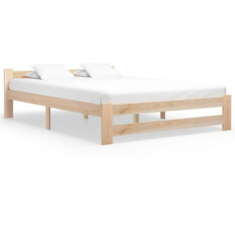 vidaXL Bed Frame Solid Pine Wood 120x200 cm - Brown