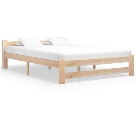 vidaXL Bed Frame Solid Pine Wood 180x200 cm - Brown