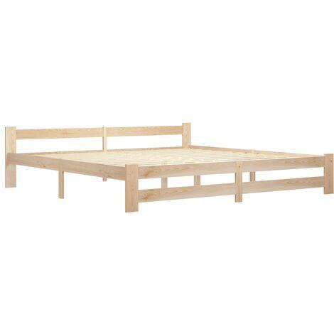 vidaXL Bed Frame Solid Pine Wood 200x200 cm - Brown