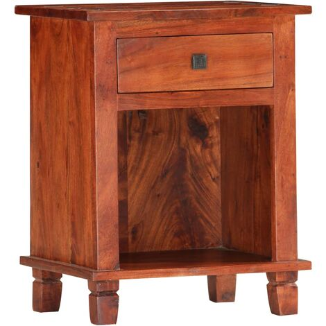 vidaXL Bedside Cabinet 40x30x50 cm Solid Acacia Wood - Brown