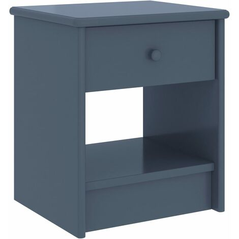 vidaXL Bedside Cabinet Light Grey 35x30x40 cm Solid Pinewood - Grey